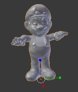 mario angry 3d obj