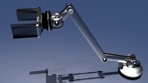 industrial robot arm 3d 3ds