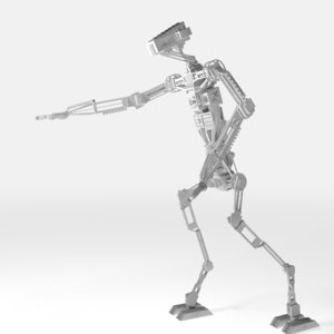 rigged droid unwrapped fbx