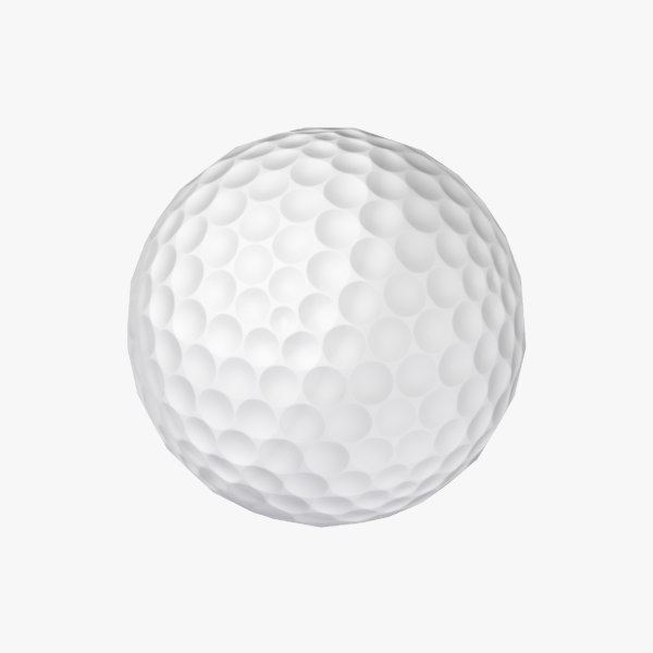 low-poly golf ball 3d max