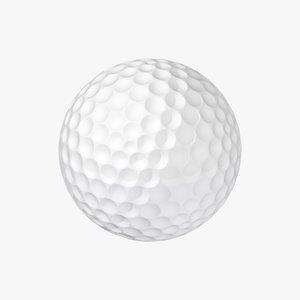 maya hi-poly golf ball