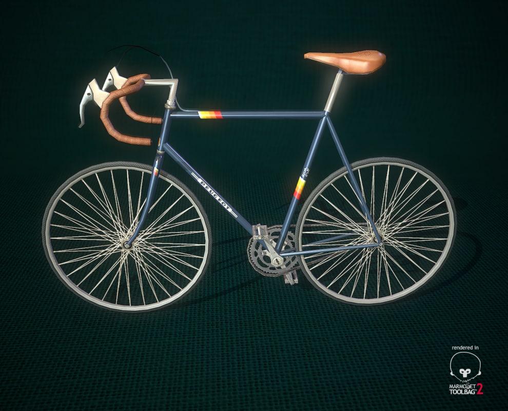 3d model of vintage bike