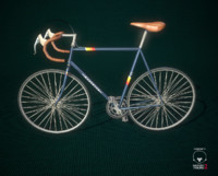 Low Poly Vintage Road Bike