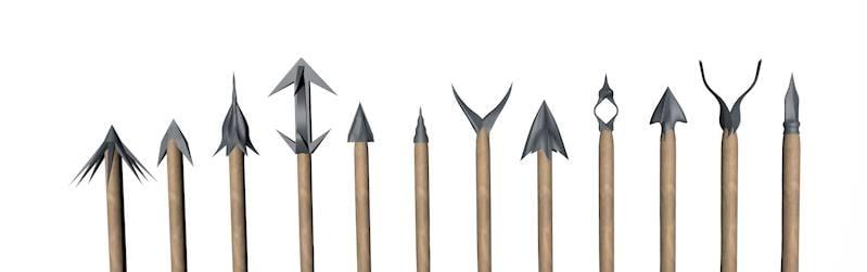 12 different arrows 3d dxf