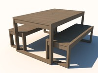 Timber Patio Table