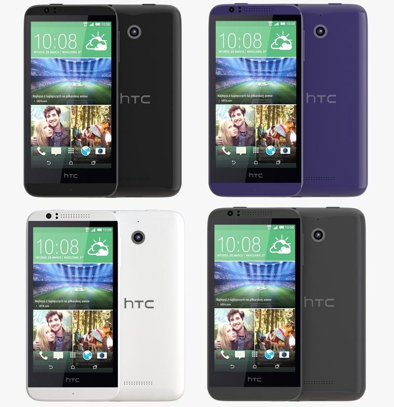 htc desire 510 color 3d 3ds