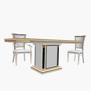 3d olimpo dining table chair