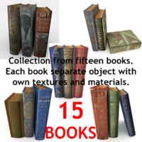 realistic books modeled 3d model