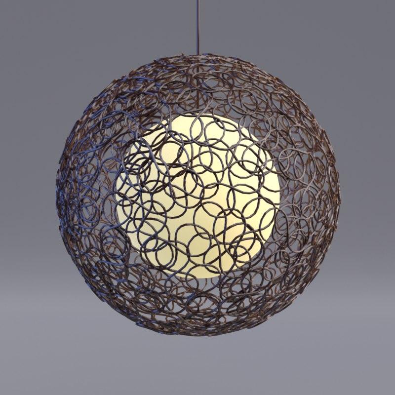 noodle lamp 3d model