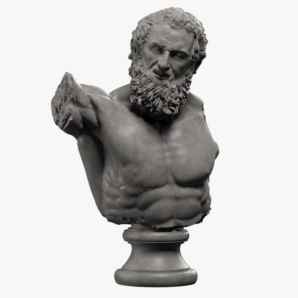 3d model of atlas bust