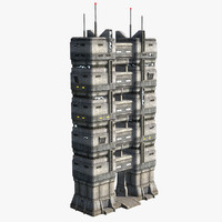 3ds max sci-fi towers