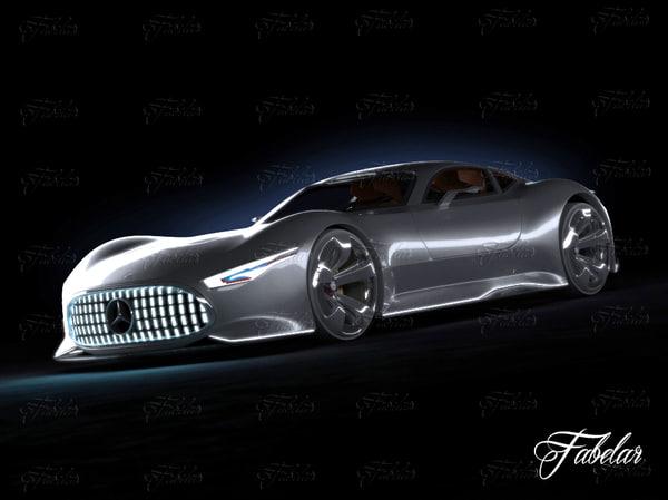 3d mercedes vision gt model