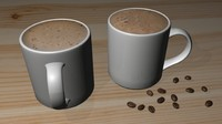 Coffee Cup, Cappuccino or Hot Chocolate
