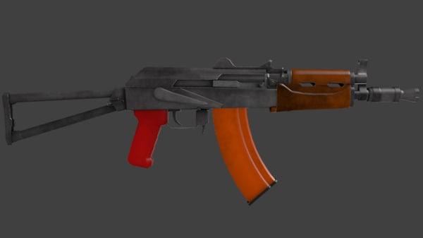 free 3ds model ak74u ak74