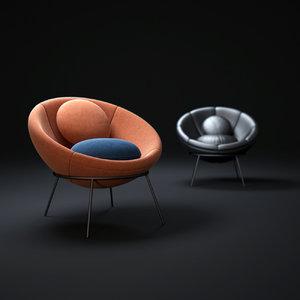 bowl-chair 3d model