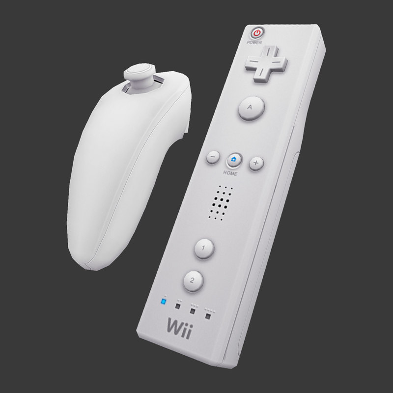3d wii remote nunchuk model