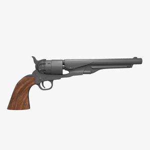 1860 revolver 3d model