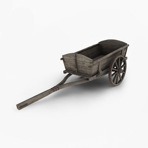 3d wooden wagon