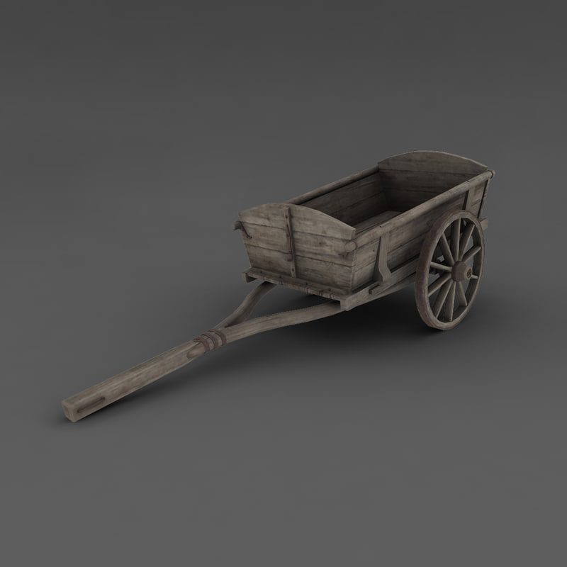 3d wooden wagon
