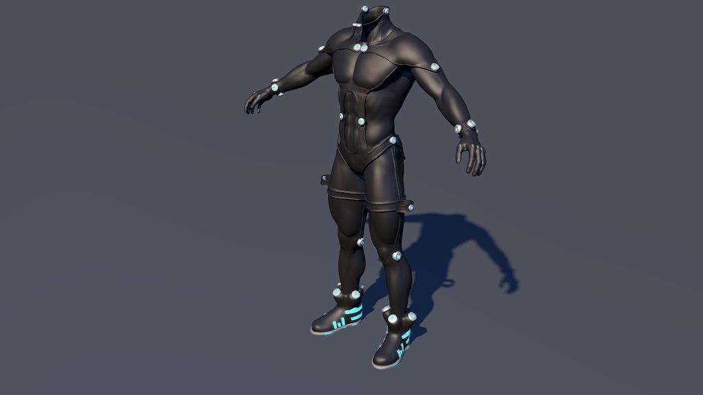 gantz suit 3d obj