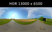 Bus Stop with fields 360 degree HDRi