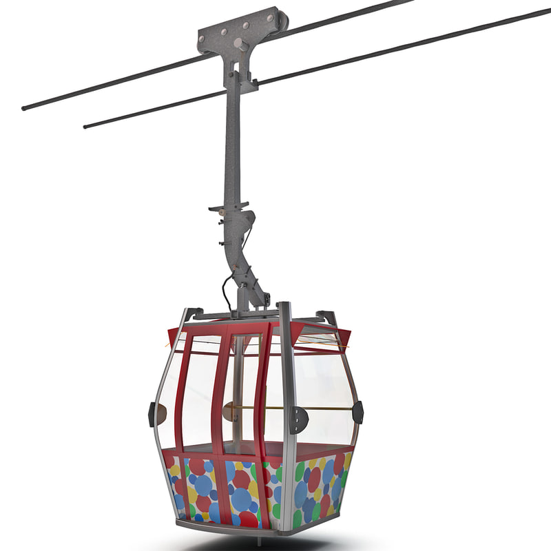 3d model cableway cable