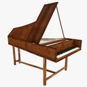 Harpsichord 3D models