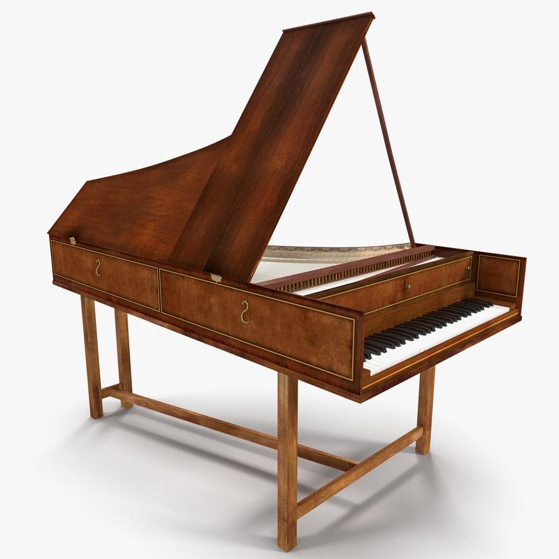 3d harpsichord model