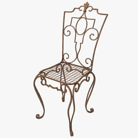 cast iron chair c4d