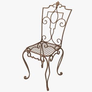 cast iron chair c4d
