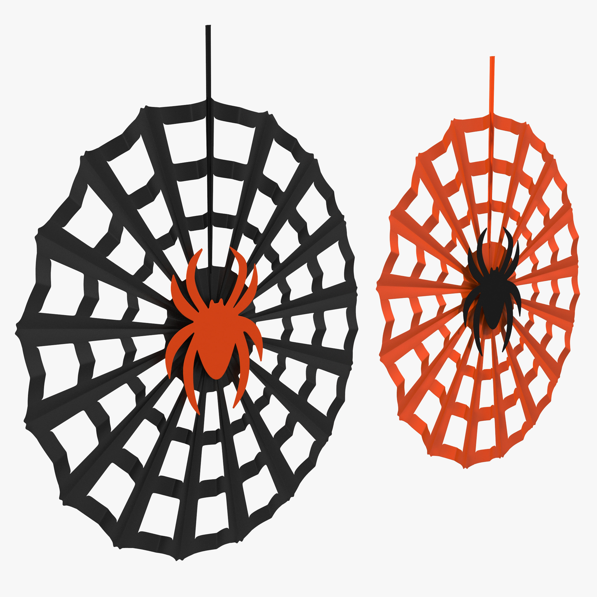 spiderweb decoration 3d model