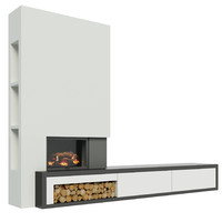 max modern fireplace cabinet