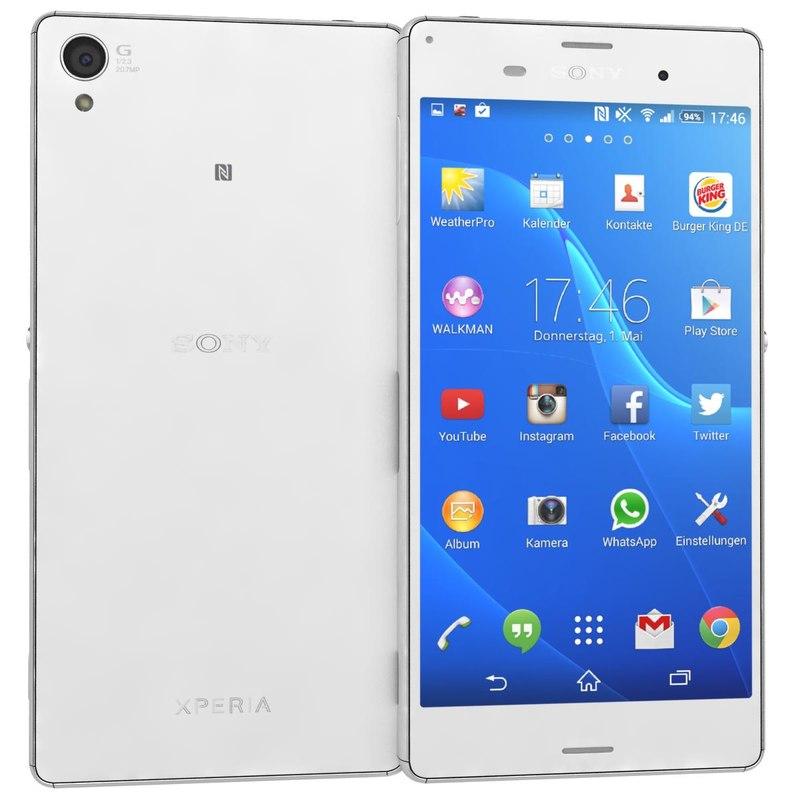 sony xperia z3 white s