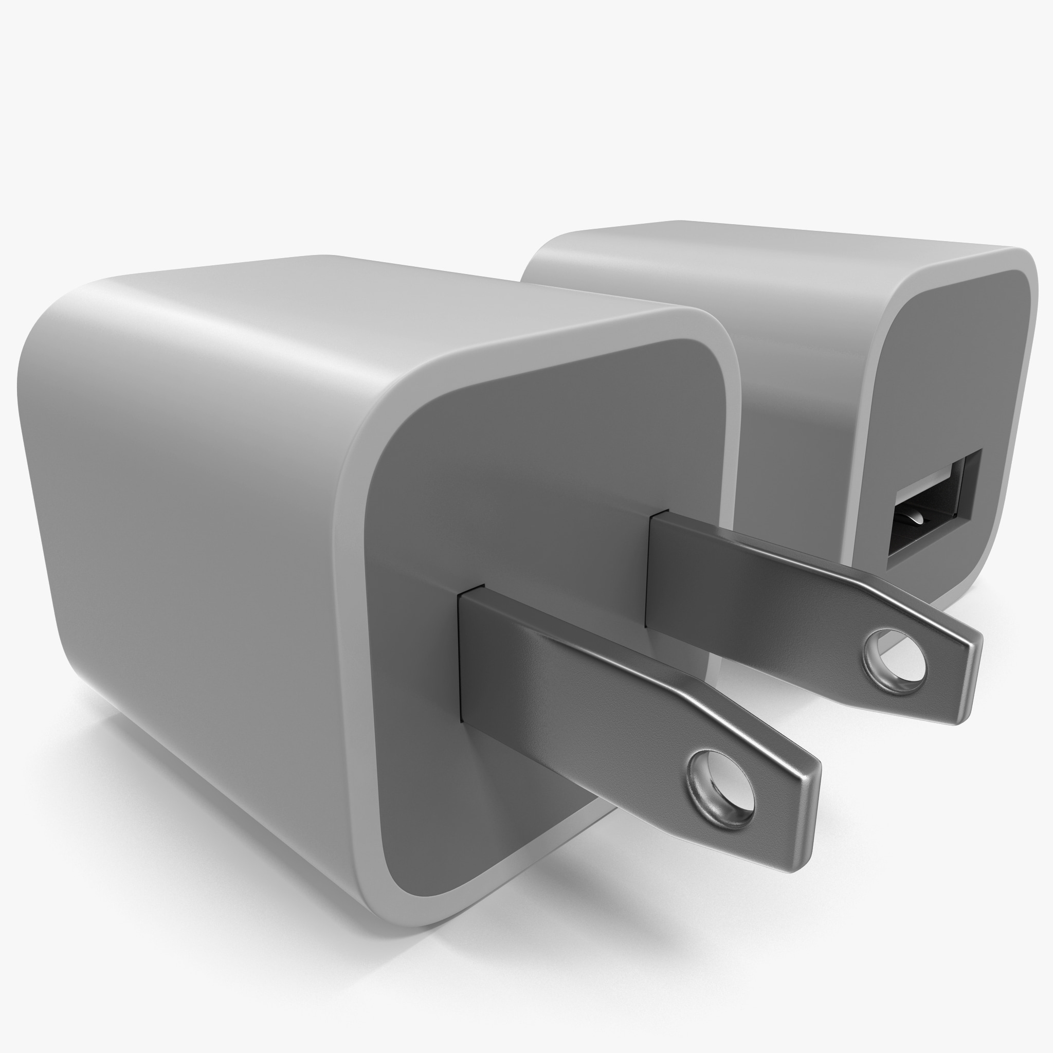 usb wall charger 3d model
