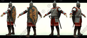 3d russian warrior