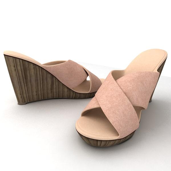 women slippers 3d model