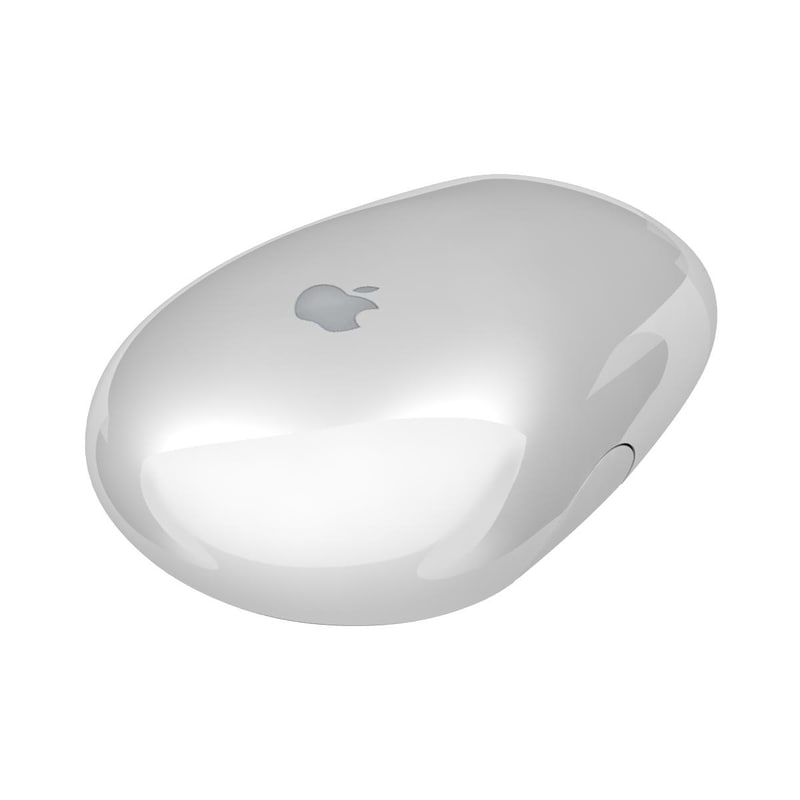 3d apple wireless mighty mouse model