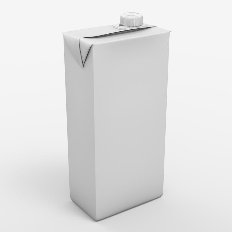 beverage package 3d model