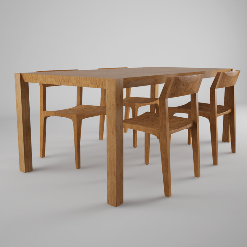 max realistic stria table chairs