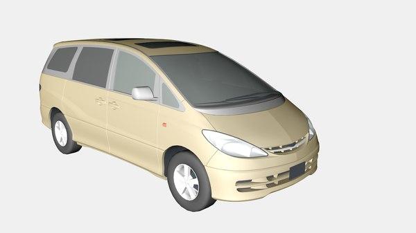 3d toyota previa model