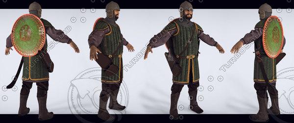 3ds tatar warrior