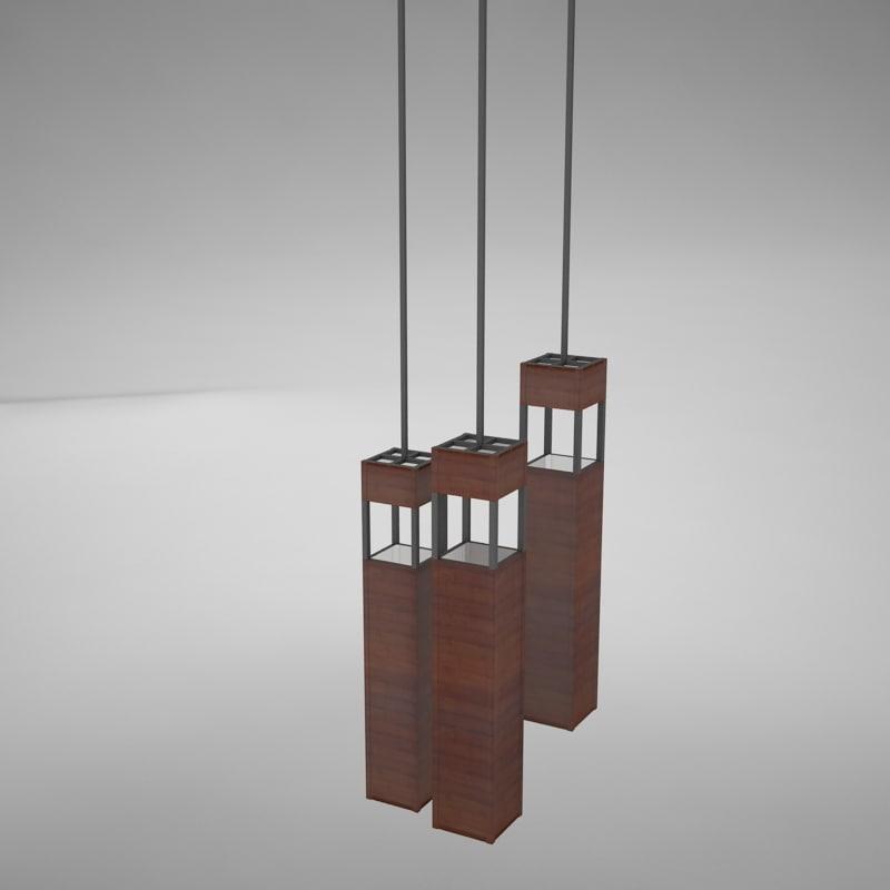3d model lamp scene