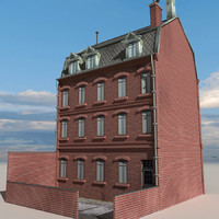 3d model city block building 08