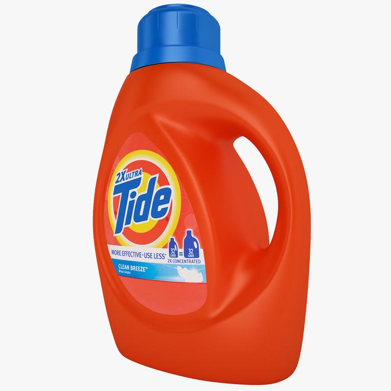 tide bottle 3d 3ds