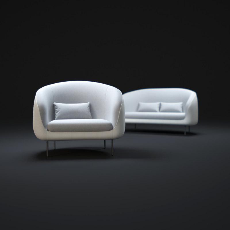 3d max haiku-sofa