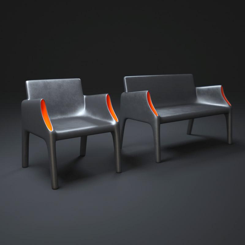3d model of magic-hole-armchair