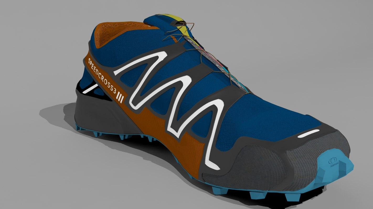 salomon running shoes 3d max