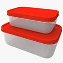 plastic food container 3D models