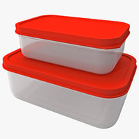 plastic food containers 3d 3ds