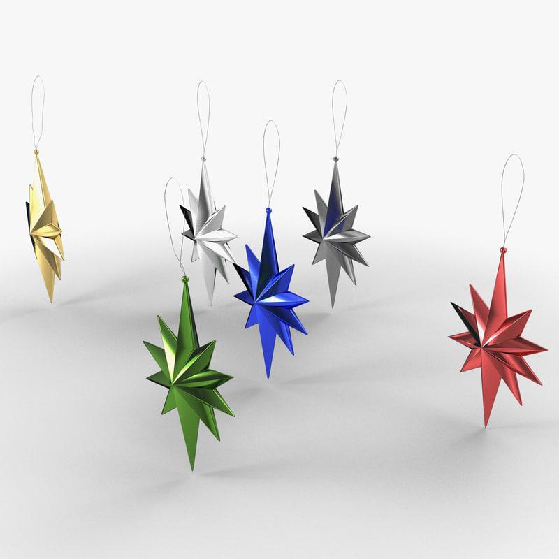 3d star ornament 01